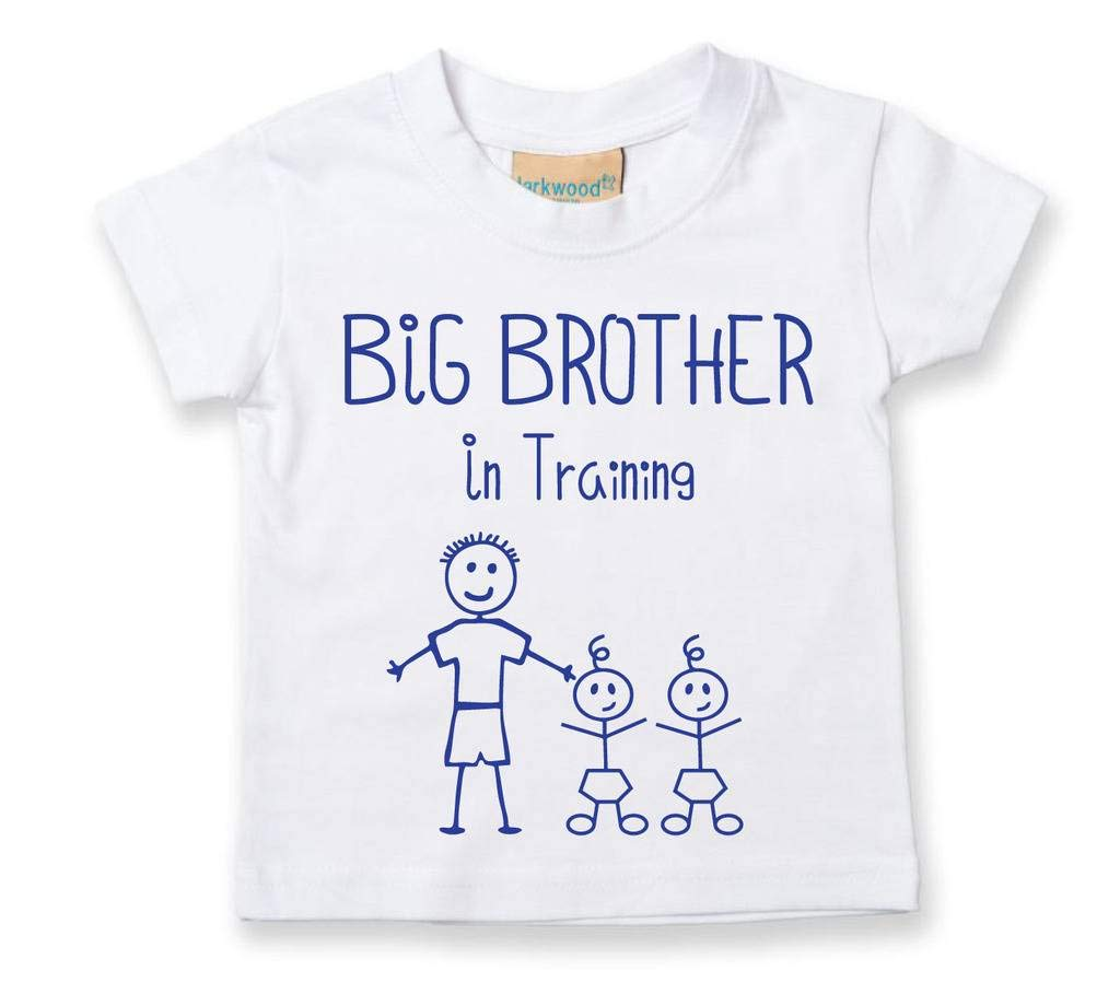 Big Brother in Training Twins Tshirt Baby Toddler Kids Available in Sizes 0-6 Months to 14-15 Years New Baby