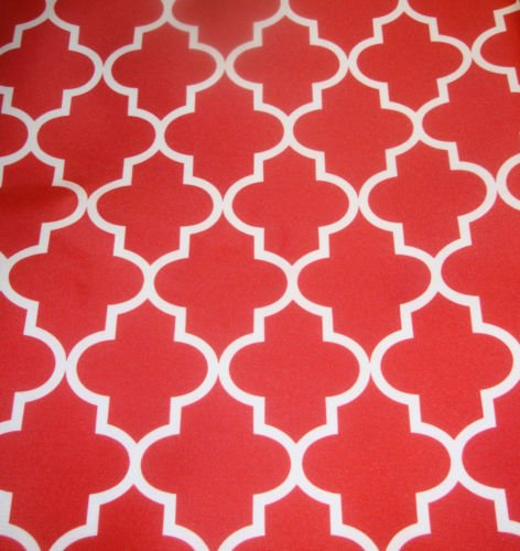 red and white upholstery fabric - 3