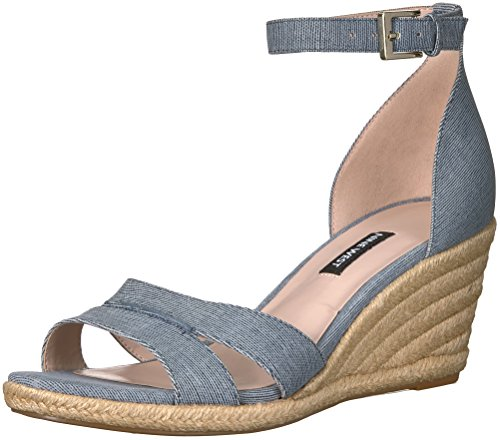 Image of Nine West Women's JABRINA Leather Wedge Sandal