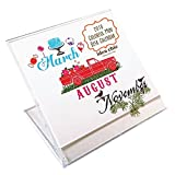 Colorful Mini Desk Calendar 2018
