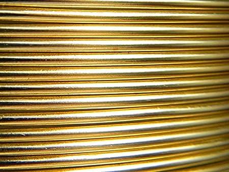 5 M/ètres Fil Aluminium dor/é Clair 1mm Oasis /®