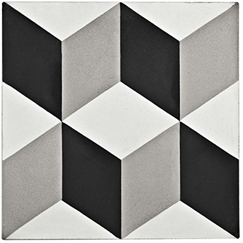 hot sale 2017 SomerTile 7.875x7.875-inch Cement Lloyd Classic Cement Floor and Wall Tile (12/Case, 5.5 sqft.) | first-quality cement tile for floor and wall use