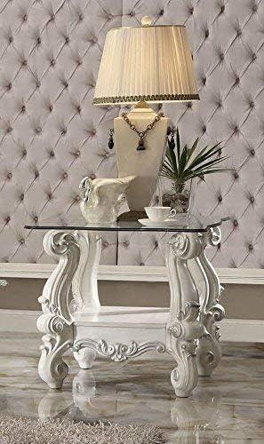 ACME Versailles Bone White End Table