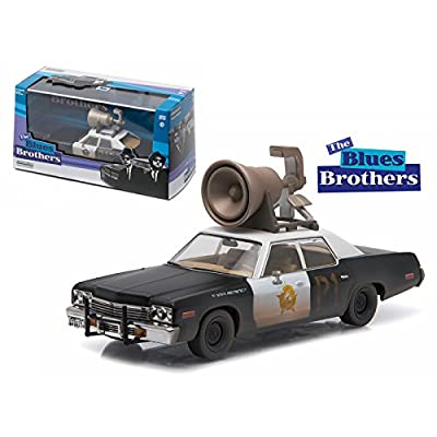 Greenlight 1974 Dodge Monaco Bluesmobile Blues Brothers Movie (1980) with Speaker on Roof 1/43 Diecast Model Car by 86423: Toys & Games