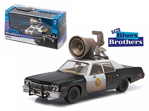 Greenlight 1974 Dodge Monaco Bluesmobile Blues Brothers Movie (1980) with Speaker on Roof 1/43 Diecast Model Car by 86423