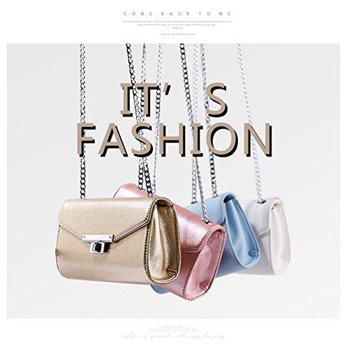Yoome Pure Color Flap bolsa de la cadena de monedero Elegante bolsos de sobres retro para las mujeres Minúsculas bolsas para los adolescentes - Negro Negro