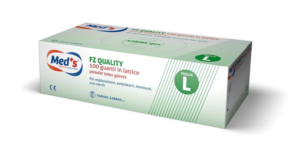 Taglia Grande FZ Quality 2901860203 Guanti in Lattice con Polvere da Esplorazione Aql 1 Scatola da 100 Pezzi