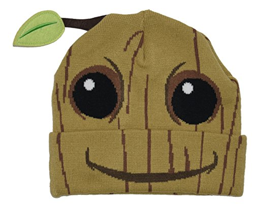 Rocket And Groot Costumes (Guardians Of The Galaxy Baby Groot Costume Beanie Cap Hat)