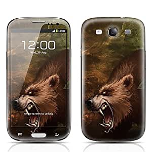 Piaopiao Fierce Bear Pattern Front and Back Protector Stickers for Samsung Galaxy S3 I9300