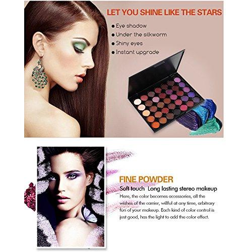 Baomabao 35 Color Eye Shadow Powder Palette Makeup Shimmer Glitter Matt Eyeshadow Cosmetic Eyes Beauty (E)