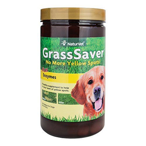 NaturVet GrassSaver Plus Enzymes for Dogs, 300 ct Chewable Wafers, Made in USA