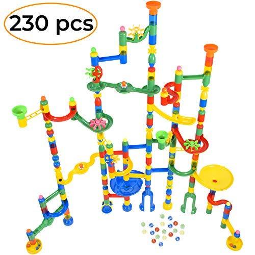 MagicJourney - Juego de rieles de mármol gigante de 230 piezas, juego de construcción de mármol con 200 pistas de mármol...
