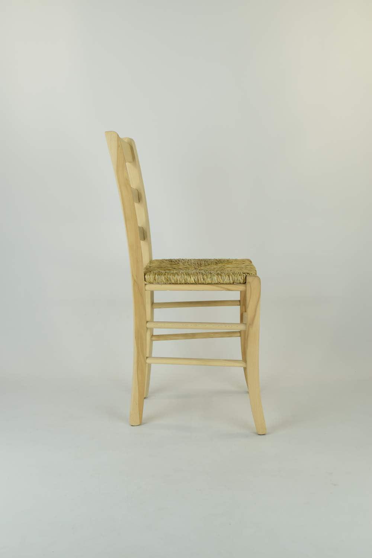 Set 2 sedie Classiche Cuore per Cucina Bar e Sala da Pranzo 100/% Naturale e Seduta in Legno Robusta Struttura in Legno di faggio Levigato Tommychairs Non trattato