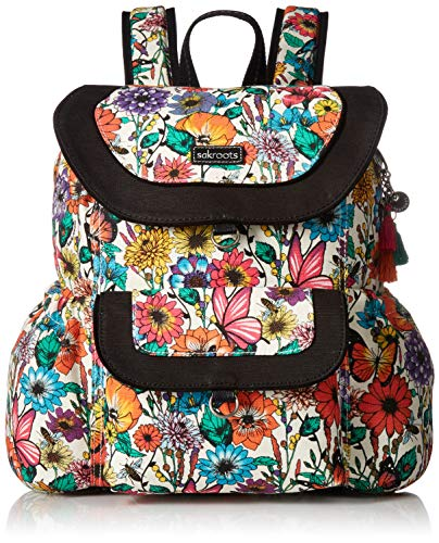 Sakroots Artist Circle Flap Backpack, optic in bloom