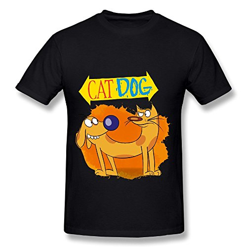 Sweatshirt T-shirt Reunion - SP Conjoined Brothers CatDog Cotton T Shirt For Men Black M