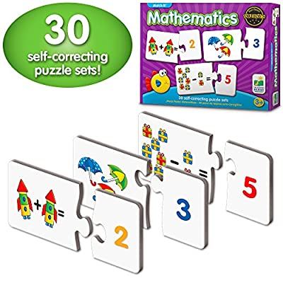 The Learning Journey Match It! Mathematics - STEM Addition and Subtraction Game - Helps to Teach Early Math Facts with 30 Matching Pairs Preschool Games & Gifts for Boys & Girls Ages 3 and Up: Toys & Games
