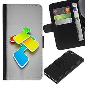 KLONGSHOP // Tirón de la caja Cartera de cuero con ranuras para tarjetas - Colores - Apple Iphone 6 //