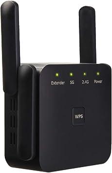 YOUKUKE WiFi Range Extender, AC 1200 Mbps + 300Mbps WiFi Extender Booster, Repetidores de Red de Banda Dual 5G + 2.4G (Función WPS/Puerto ...