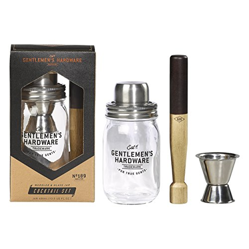 Gentlemen's Hardware Muddler Glass Jar Cocktail Set by Gentlemen's Hardware