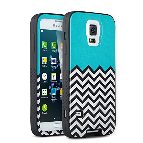 S5 Case, Galaxy S5 Case, ULAK Soft Silicone + Hard Plastic Protective Hard Case for Samsung Galaxy S5 / Galaxy SV / Galaxy S V i9600 (Follow the Sky+Black)