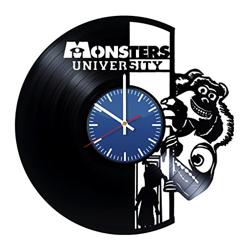 Monsters University Vinyl Wall Clock - Unique Home Decor - Original Handmade Vintage Gift for Any Ocassion - Birthday, Anniversary, Christmas, Mother's Day