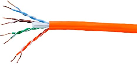 550Mhz 250ft Pure Bare Copper Wire Monoprice Cat6 Ethernet Bulk Cable Solid 23AWG Network Internet Cord STP Blue No Logo CM
