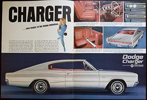 Magazine Print Ad: 1966 Dodge Charger 426 Street Hemi, TorqueFlite Automatic Transmission,