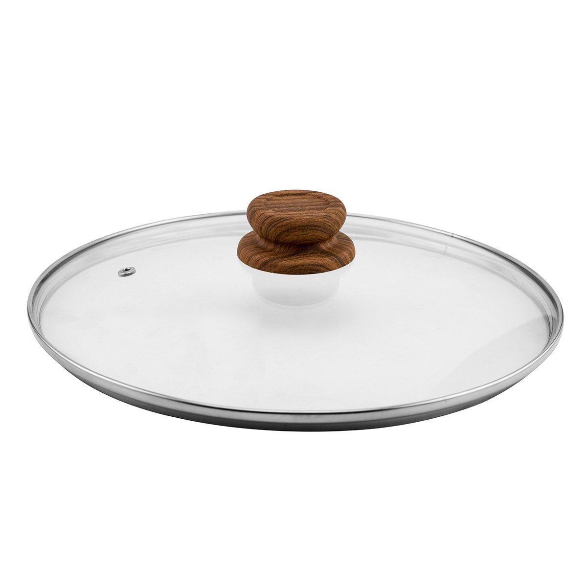 JML 28cm Domed Glass Ventilation & Steam Release Frying Pan Saucepan Lid