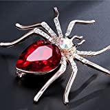 Steen 1 Pcs Spider Crystal Brooch Rhinestones