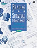Reading for Survival in Today's Society, Elsa Woods and Beverly A. Lancaster, 0673360784