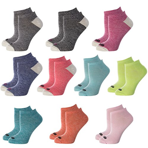 Kensie (10 Pairs) Lightweight No Show Socks For Women 9-11 Cute Ladies Ankle Socks Colors Shoe 4-10