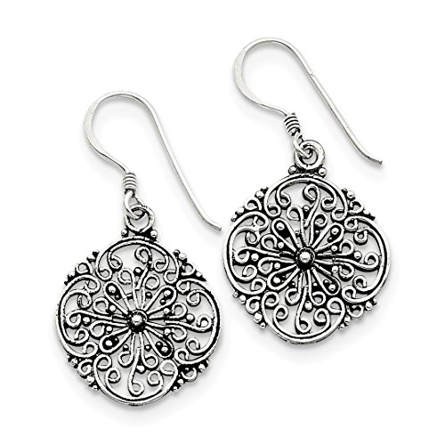 925 Sterling Silver Filigree Drop Dangle Chandelier Earrings Fine Jewelry For Women Gift Set -