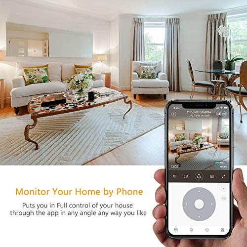 YI Dome Camera, 1080p Indoor Pan/Tilt/Zoom Wi-Fi 2.4G IP Security Surveillance System with 24/7 Emergency Response, Auto-Cruise, Motion Track, App Remote Control, Cloud Service - Works with Alexa
