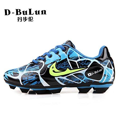 XING Lin Fußball Schuhe Fußball Schuhe Jugend Training Schuhe rutschsicherer Fußball Schuhe Damen und Herren Spike Kunstrasen Kinder Schuhe blau