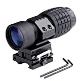 1pcs Hunting 3X Magnifier Scope Sight Flip To Side 20mm Rail Mount Scopes New