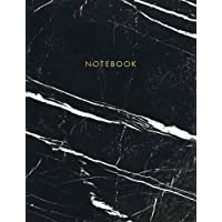 Notebook: Classic Black and White Marble with Gold Lettering - Marble & Gold Journal | 150 College-ruled Pages | 8.5 x 11 - A4 Size (Marble and Gold ... - Journal, Notebook, Diary, Composition Book)