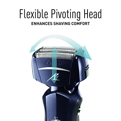Panasonic Razor, ES-LF51-A, Men's Electric 4-Blade Cordless Shaver, Wet/Dry with Flexible Pivoting Head by Panasonic (Image #3)