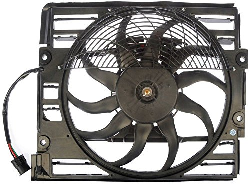 TOPAZ 64548380774 Right Passenger Side A/C Condenser Fan Assembly for BMW E38 740i 1997-1998 740Li 750 Li 1996-1998