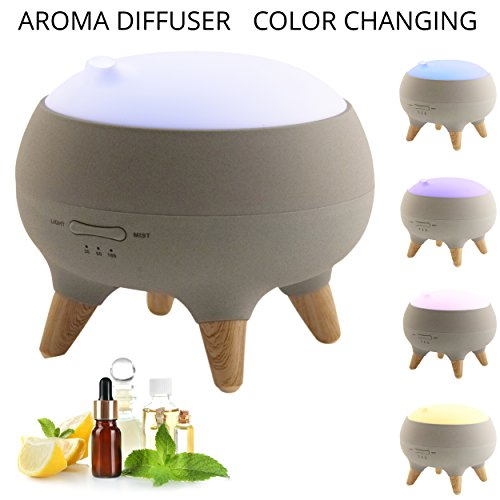 Price comparison product image Light Accents Color Changing Aroma Diffuser - Aromatherapy Diffuser - Humidifier with Wood Accents