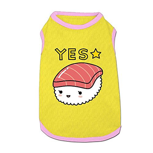 Dog T-Shirt Clothes Yes Sushi Doggy Puppy Tank Top Pet Cat Coats Outfit Jumpsuit Hoodie