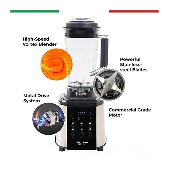 Balzano 1800W Professional Commercial Grade Power Blender (Silver) 3