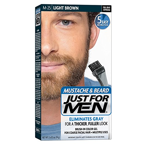 Just For Men Mustache and Beard Brush-In Color Gel, Light Brown (Pack of 3) (Mens Light Brown Hair Dye compare prices)