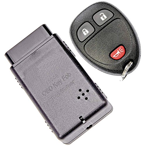 APDTY 121929 Keyless Entry Remote Key Fob Transmitter With Auto Programming Tool (Replaces 15913420, 20869056, 20952475, 22936099) ()