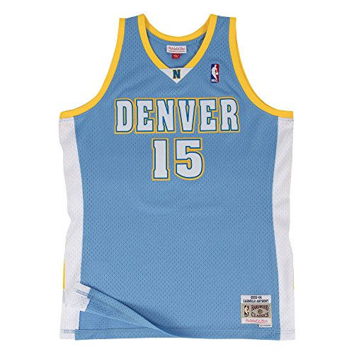 Carmelo Anthony Denver Nuggets  15 Nba Mens Hwc Swingman Jersey Blue  Large