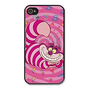 The best gift for Halloween and Christmas iPhone 4 4s Cell Phone Case Black Freak badass Cheshire Cat by disney villains VIK9181061