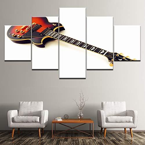 WJFWLH Decoración para El Hogar Marco HD Imprimir Lienzo Cartel De 5 Piezas Arte De La Pared Cuerda De Guitarra Eléctrica Música Pintura Imagen: Amazon.es: ...