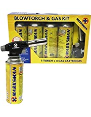 Blow Torch Butane Gas KIT FLAMETHROWER Welding AUTO Ignition Bottles Soldering