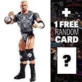 Triple H w/ Fan Sign: WWE Basic Figure KM Exclusive Series + 1 FREE Official WWE Trading Card Bundle