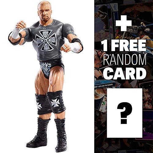 WWE Triple H w/ Fan Sign Basic Figure KM Exclusive Series + 1 Free Official Trading Card Bundle (Wwe Card Sign By John Cena)