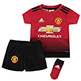adidas Kids Manchester United Home Baby Kit, Top:Real Red/Black Bottom:Black/Black, Size 74